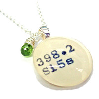 AAA Grade Peridot Apple Green August Birthstone Dewey Decimal Sterling Silver Necklace