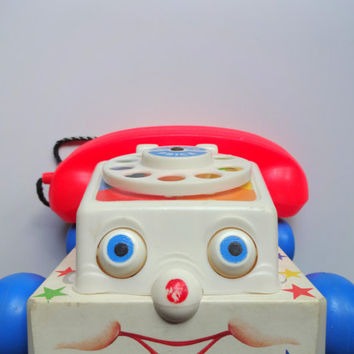 Vintage Fisher Price Chatter Telephone Toy 1985