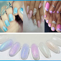 Mermaid Effect Glitter Nail Art Powder Dust Magic Glimmer 2015 Trend Irridescent