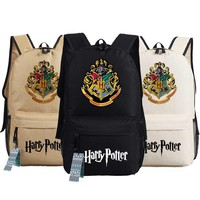 New harry potter Backpack Anime oxford Schoolbags Fashion Unisex Travel Bag