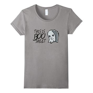 This Is Boo Sheet Funny Ghost Halloween Holiday Goth Emo Tee