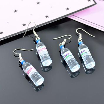 SPINNER Creative Simulation of Mineral Water Bottles Earrings Cute Handmake Earrings Woman's Fashion Jewelry