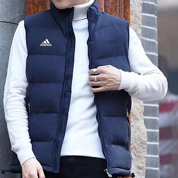 Adidas Women Men Fashion Casual Sleeveless Cardigan Jacket Coat