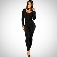 Long Sleeve Tight Jumpsuit