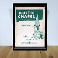 Rustic Chapel for the Pianoforte Sheet Music {1936} Vintage Paper Ephemera