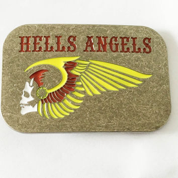 Hells Angles Colorful MC Skull Biker Motorcycle Belt Buckle