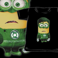 Despicable me minions Green Lantern All size Kids and Baby T-shirt Clothes