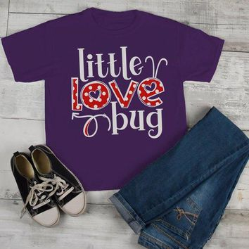 Kids Valentine's Day T Shirt Little Love Bug Shirts Cute Adorable Valentine Tshirt Toddler Tee