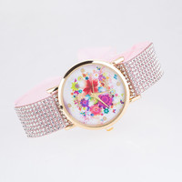 Korean Stylish Pastoral Style Canvas Adjustable Watch Pattern Bracelet Watch [8863719687]