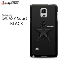 Dallas Cowboys Black Stars For Samsung Galaxy Note 4 Case