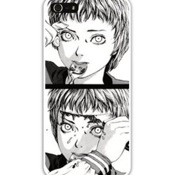 MANGA babe knife goth dark ANIME japanese suicide bae iPhone Case