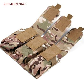 Tactical Hunting Molle 5.56mm Triple Magazine Pouch Holster Bag Outdoor Equipment