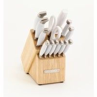 KitchenAid 14-piece Frosted Pearl Cutlery Set | Overstock.com Shopping - The Best Deals on Block Sets