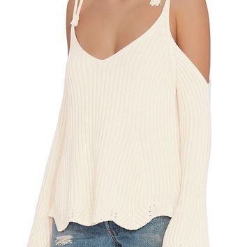 Exclusive for Intermix Chase Tie Strap Cold Shoulder Knit at INTERMIX | Shop Now | Shop IntermixOnline.com