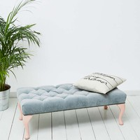 Tufted Grey Bench - Urban Outfitters