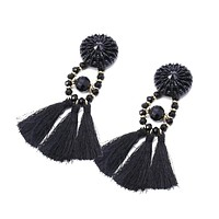 Vintage Gota Tassel Earrings