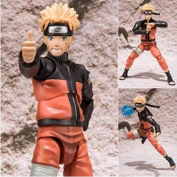 15cm Naruto Shippuden Uzumaki Naruto Action Figures Anime PVC brinquedos Collection Model toys with Retail box Free shipping