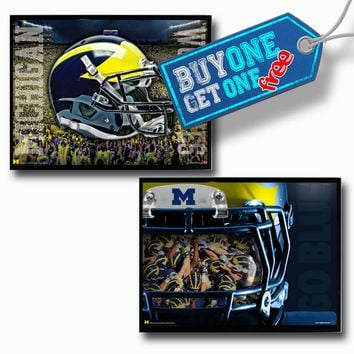 Michigan Wolverines Buy One Get One Free Poster Set