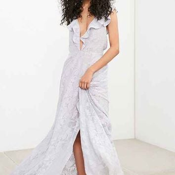 The Jetset Diaries Wanderlust Ruffle Plunge Maxi Dress