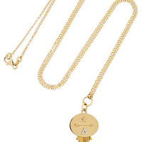 Foundrae - Dream 18-karat gold, brass and diamond necklace