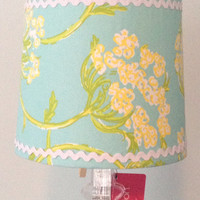 Lilly Pulitzer Racy Lacy Surf Blue  Lamp Shade ONLY