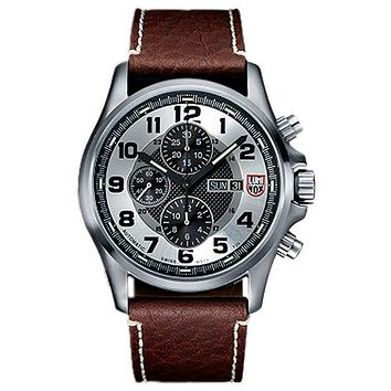 Luminox Mens Field Valjoux Automatic Chrono Numbered Edition - Steel - Strap