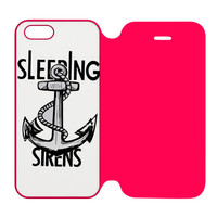 Sleeping with Sirens Anchor Kellin Quinn iPhone 5 | 5S Flip Case Cover