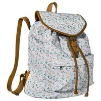 Mossimo Supply Co. Floral Backpack Handbag - Light Blue