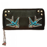Banned Swallows Zip Around Wallet
