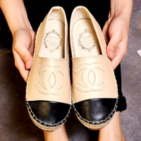 Summer11 : Chanel Fashion Espadrilles For Women Leisure Comfortable Shoes Beige
