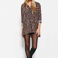 Ecote Allover Print Drapey Button-Down Shirt-