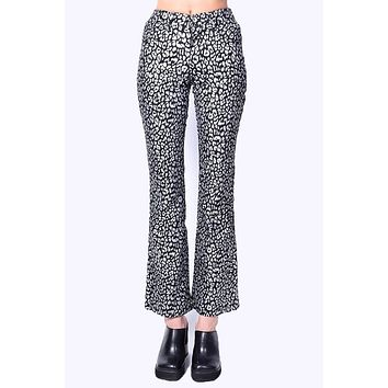 Deadstock Sonny Metallic Cheetah Print Flare Pants