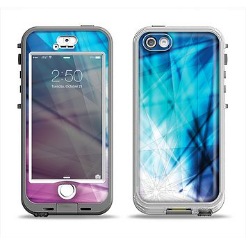 The Vibrant Blue and Pink HD Shards Apple iPhone 5-5s LifeProof Nuud Case Skin Set