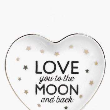 To The Moon And Back Trinket Dish | Boohoo