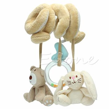 Spiral Stroller Car Seat Travel Lathe Hanging Activity Toys Baby Rattles Toy