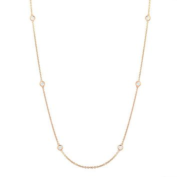 Diamond Bezel Chain Necklace