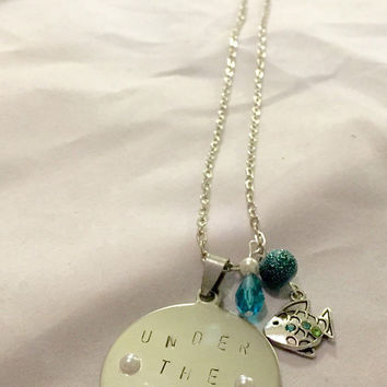 Under the Sea Little Mermaid inspired necklace