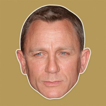 Sad Daniel Craig Mask - Perfect for Halloween, Costume Party Mask, Masquerades, Parties, Festivals, Concerts - Jumbo Size Waterproof Laminated Mask