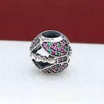 Disney Pandora Charms Minnie Mouse Holiday Bow Charm Bead Authentic Pandora Christmas