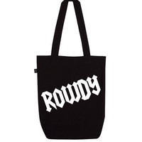 Organic 'Rowdy' Tote Bag | Black