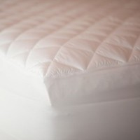 Downlite Full/Double Size Combo Feather Bed Plus Bonus Water Resist Mattress Pad Featherbeds