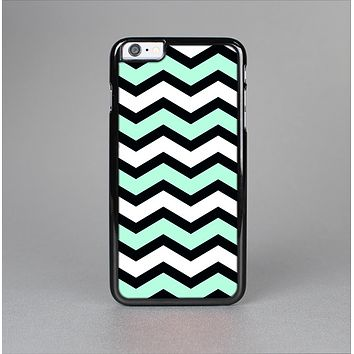 The Teal & Black Wide Chevron Pattern Skin-Sert for the Apple iPhone 6 Plus Skin-Sert Case