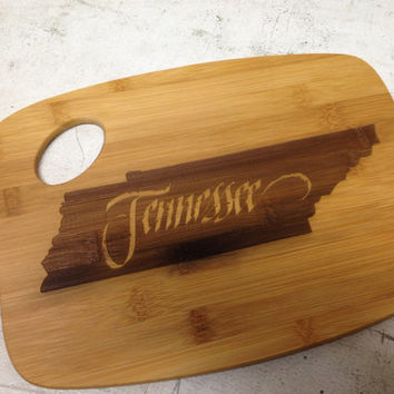 Tennessee Laser Engraved Personalized Bamboo Cutting Board Wedding Gift