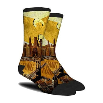 Wu Tang Clan  City Scape Socks Black Rockabilia