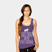 Unicorns Are My Spirit Animal Tank Top By BubbSnugg Design By Humans