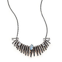 Alexis Bittar Fine - Midnight Marquis Blue Quartz, Black Spinel & Sterling Silver Fringe Necklace - Saks Fifth Avenue Mobile
