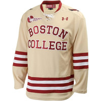 Under Armour Boston College Eagles Replica Hockey Jersey - Gold