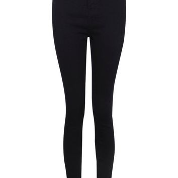 Lara High Rise Denim Jeggings | Boohoo
