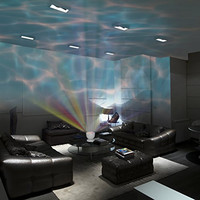 Soothing Ocean Wave Projector LED Night Light with Built-in Stereo Speakers