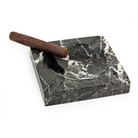 Bey-Berk Zebra Marble Cigar Ashtray